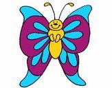 Coloriage Papillon 15 colorié par Vanessa
