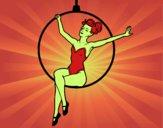 Femme trapéziste