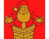 Père Noel sur le cheminée