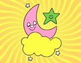 Lune et étoiles