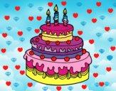 Tarte d'anniversaire