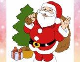 Santa Claus et un arbre de Noël