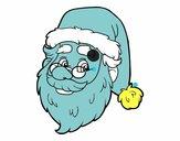Visage de Santa Claus