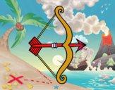 Flèche avec arc