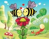 Deux abeilles