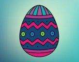 Œuf de Pâques avec des impressions