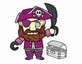 Pirate avec trésor