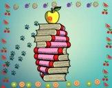 Livres et pomme