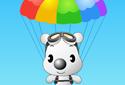Chiot en parachute