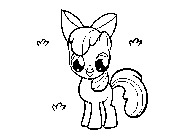 Coloriage de Apple Bloom pour Colorier