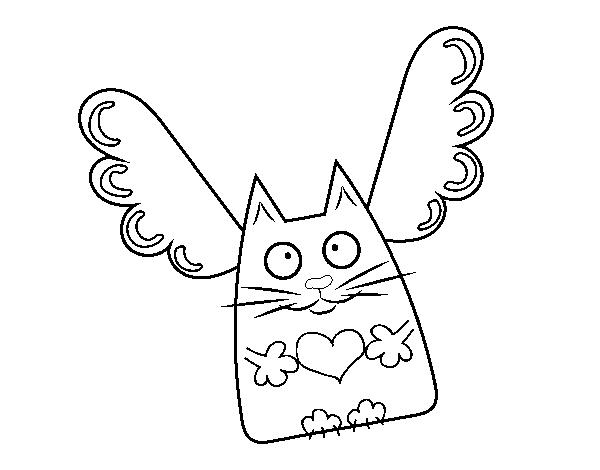 Coloriage de chat cupidon pour colorier - Dessin de cupidon ...