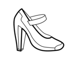 <span class='hidden-xs'>Coloriage de </span>Chaussure de salon à colorier