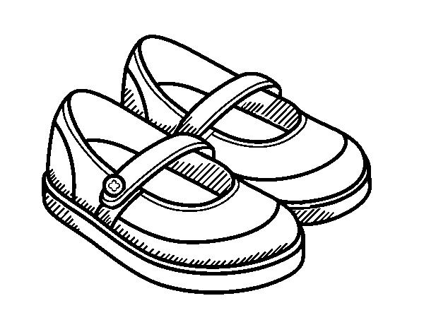 Chaussures Dessin Télécharger Fille Coloriages Coloriage À