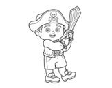 <span class='hidden-xs'>Coloriage de </span>Costume Pirate à colorier
