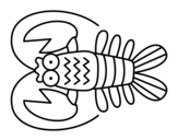 <span class='hidden-xs'>Coloriage de </span>Crustacé à colorier