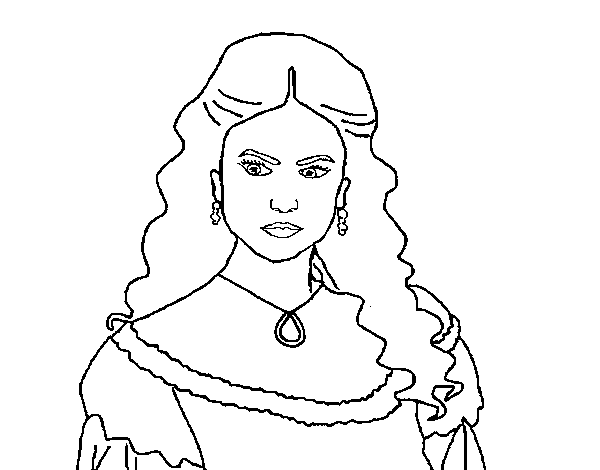 Coloriage de Katherine Pierce de Journal d'un vampire pour Colorier