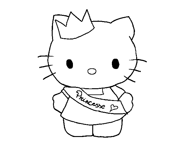 Coloriage de Kitty princesse pour Colorier