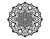 <span class='hidden-xs'>Coloriage de </span>Mandala symétrie simple à colorier