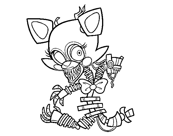 Coloriage de Mangle de Five Nights at Freddy's pour Colorier