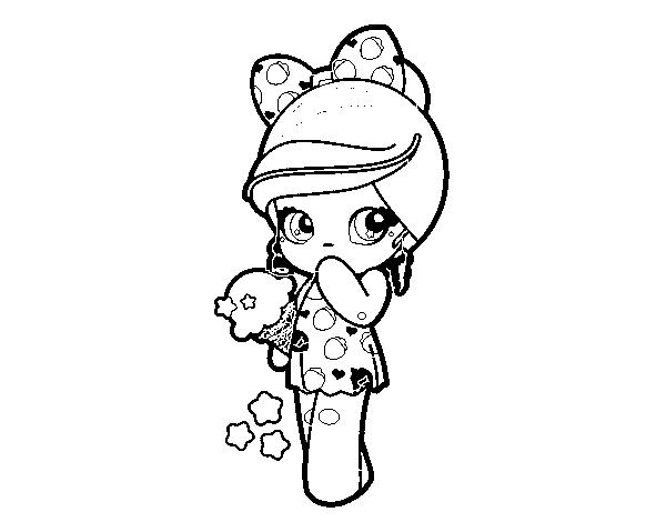 Coloriage De Petite Fille Et La Crème Glacée Kawaii Pour