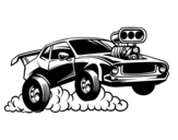<span class='hidden-xs'>Coloriage de </span>Sportif muscle car à colorier