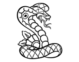 <span class='hidden-xs'>Coloriage de </span>Tatouage de cobra à colorier