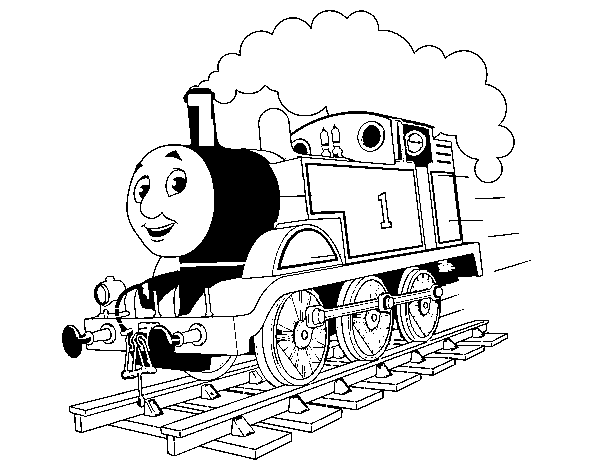 Coloriage de Thomas la locomotive 1 pour Colorier