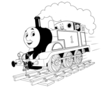 <span class='hidden-xs'>Coloriage de </span>Thomas la locomotive 1 à colorier