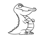 <span class='hidden-xs'>Coloriage de </span>Un alligator à colorier