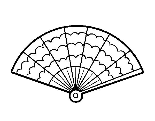 Coloriage de un ventail pour colorier - Coloriage espagnol ...