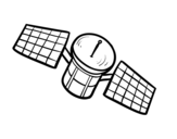 <span class='hidden-xs'>Coloriage de </span>Un satellite à colorier